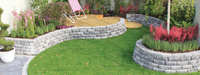 Aspen Stone Basalt Retaining Dry Walling