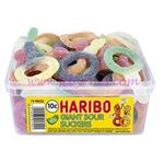 Haribo Tubs Giant Sour Suckers x75