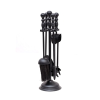 Leecroft Black Turn Handle Companion Set 15""