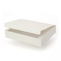 BOX / LID 35x28x5CM SOFT WHITE