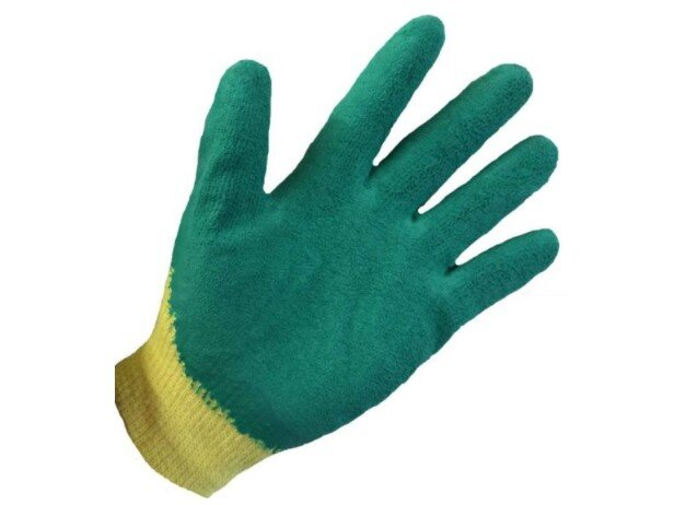 Pro Grip Glove Latex Palm Coated Green (Pair)