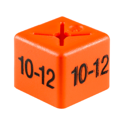 SHOPWORX CUBEX 'Size 10-12' Size cubes - Orange (Pack 50)