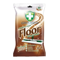 Green Shield Laminate & Wood Floor Surface Wipes, 30 Extra Large Sheets