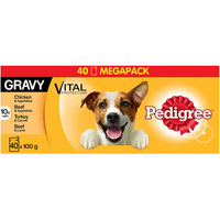 Pedigree Pouches Adult - Mixed Selection in Gravy 100g x 40