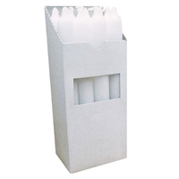 7'' Houshold Candle 12pk White