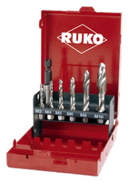 Ruko Combined Drill & Tap Set HSS 7Pieces incl. Hex Magnetic Holder
