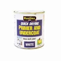 RUSTINS QUICK DRYING PRIMER & UNDERCOAT WHITE 500ML