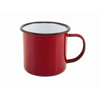 Mug Coloured Enamel Red 36cl 12.5oz