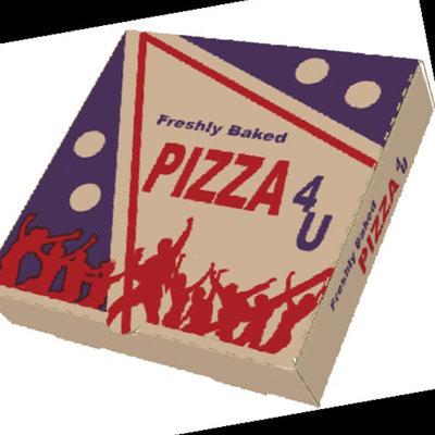 "Box Pizza (Brown)-(100x9)"""