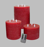 Flameless Flickering Candle Red