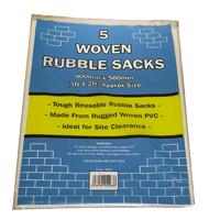 White Woven Rubble Sack 5 pk