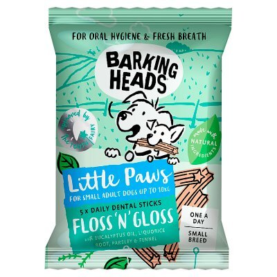 Barking Heads Little Paws Floss-n-Gloss Small Breed 100g x 10
