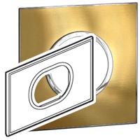 Arteor (British Standard) Plate 3 Module 2 Gang Round Gold Brass | LV0501.2726