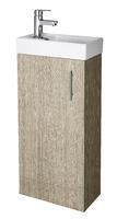 400mm Minimalist  Floor Standing Vanity Unit & Basin Oak