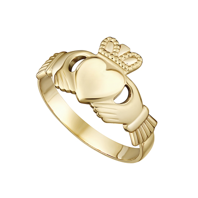 10K LADIES CLADDAGH RING