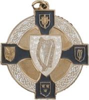 34mm Harp Medal (Bronze / Navy)