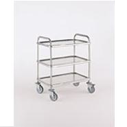 Bourgeat Trolley S/S 3 Tier 1120 x700x960mm High With Brakes