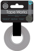 Tape Glitter Solid Charcoal (Priced in singles, order in multiples of 4)