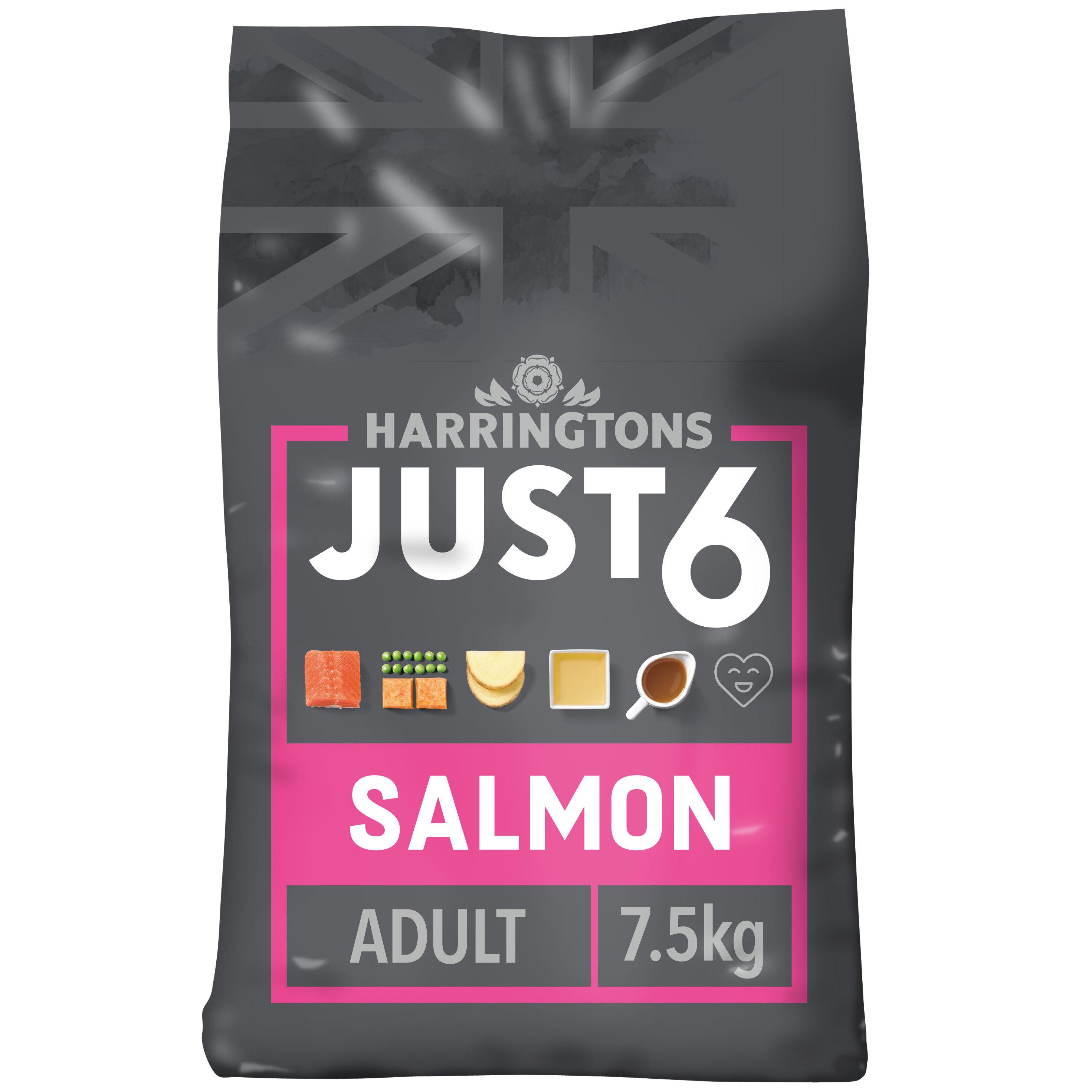 Harringtons Just 6 Adult Dog - Salmon & Veg Bakes 7.5kg