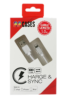 High Speed iPhone Lightning Cable Silver Rope