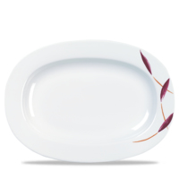 Oval Dish Rimmed 20.7cm Carton of 12