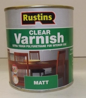 RUSTINS POLYURETHANE CLEAR VARNISH MATT 250ML