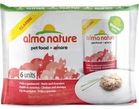 Almo Nature Classic Cat Pouch - Chicken & Shrimps Value 55g 6-Pa