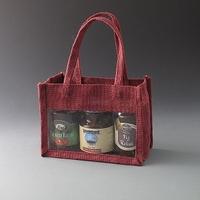 Burgandy Jute Bag