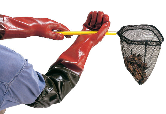LONG JOHN PVC GLOVE WITH INTERGAL SLEEVE EXTENSION