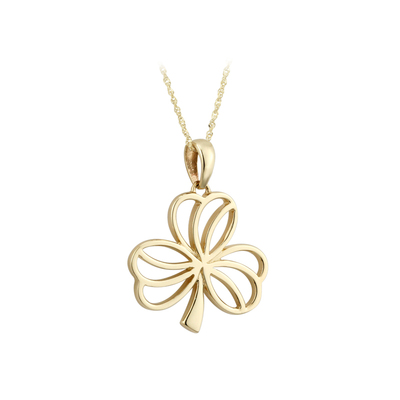 14K SMALL SHAMROCK PENDANT(BOXED)