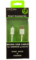 ULTRA POWER MICRO USB CABLE FOR ANDROID PRODUCTS SYNC DATA & CHARGE 1 METER