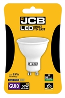 JCB 5W (50W) LED GU10 LAMP WARM WHITE 350 LUMEN