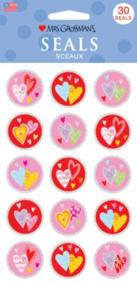 Heart Seals.(Priced in singles, order in multiples of 6)