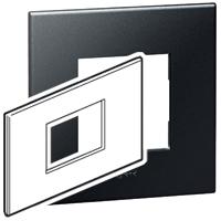 Arteor (British Standard) Plate 3 Module Square Graphite | LV0501.0132