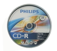 Philips CD-R 80Min 700MB 52x SP 25 Pack