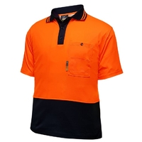 Techni Vision Hi Vis Day Only Cotton Back Short Sleeve Polo