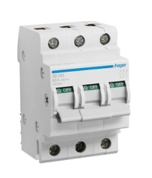 HAGER 63A 3 POLE ISOLATOR
