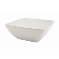 Melamine White Curved Sq Bowl 262mm 4.15Litre