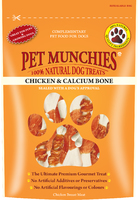 Pet Munchies Dog Treats - Chicken & Calcium Bones 100g x 8