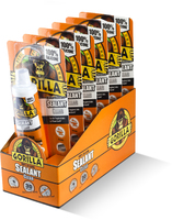 1144301 80ML GORILLA CLEAR SEALANT TUBE 6 PACK DISPLAY