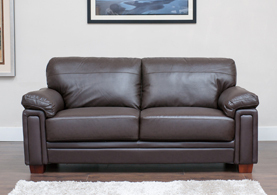 Memphis Brown Leather Sofa