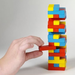 Child playing with Mini Tumbling Tower