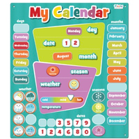 Large magnetic wall calendar for kids