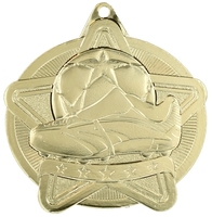 50mm Gold Star Soccer Medal