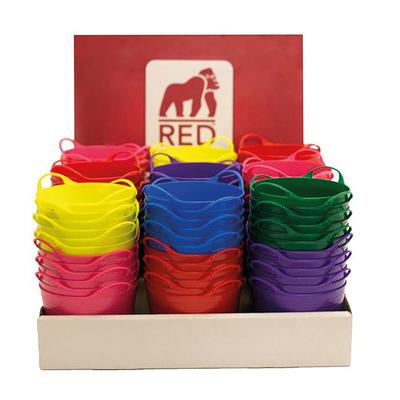 Red Gorilla Tubtrug Micro 0.37 litre display 108 pieces Pre-filled