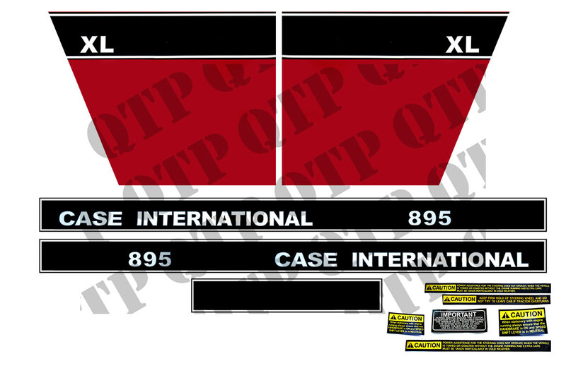 stickers case international 895L decals