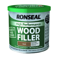 Ronseal High Performance Wood Filler 550g Dark