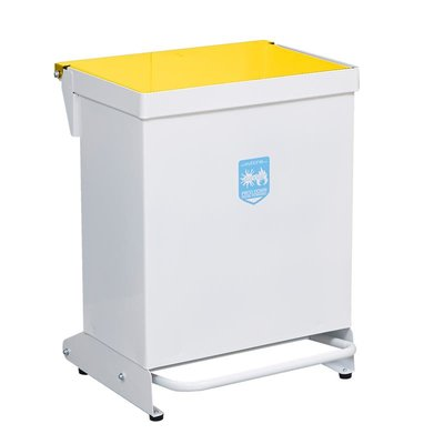 """Clinical Waste Bin 42L Yellow Lid """"Waste For Incineration"""""""