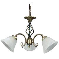 Beckworth 3 Light Semi Flush Antique Brass Fitting