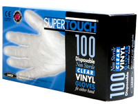 Supertouch Powdered Vinyl Gloves - Medical Grade, Clear